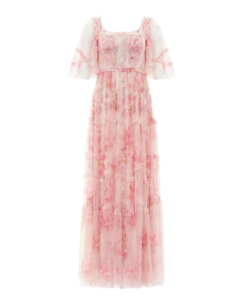 Ruby Bloom Smocked Maxi Gown