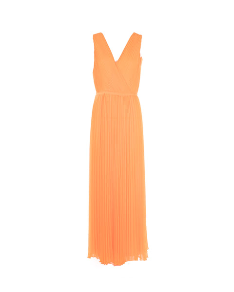 Pleated Maxi Gown