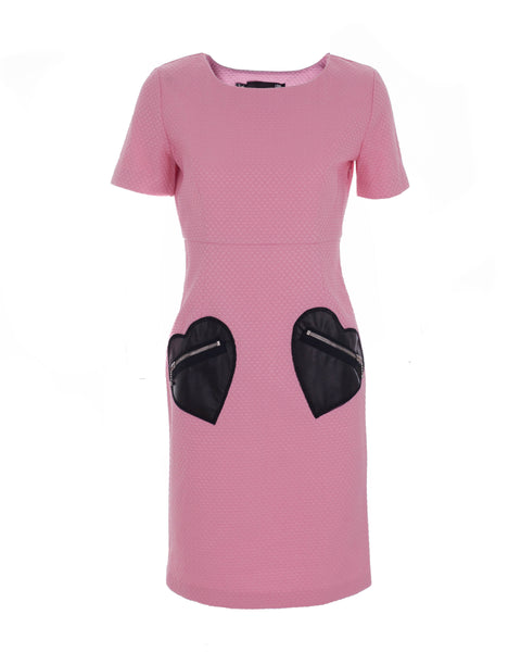 Honeycomb Pink Love Pocket Dress