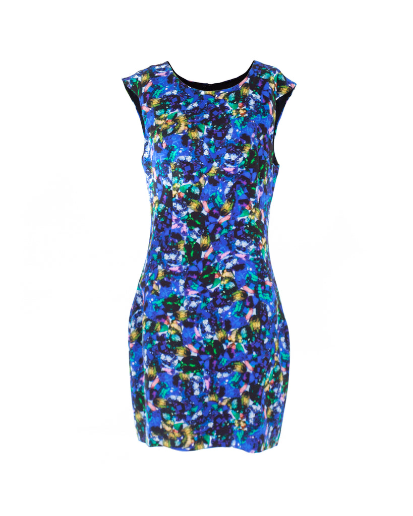 Jewel Print Sheath Dress