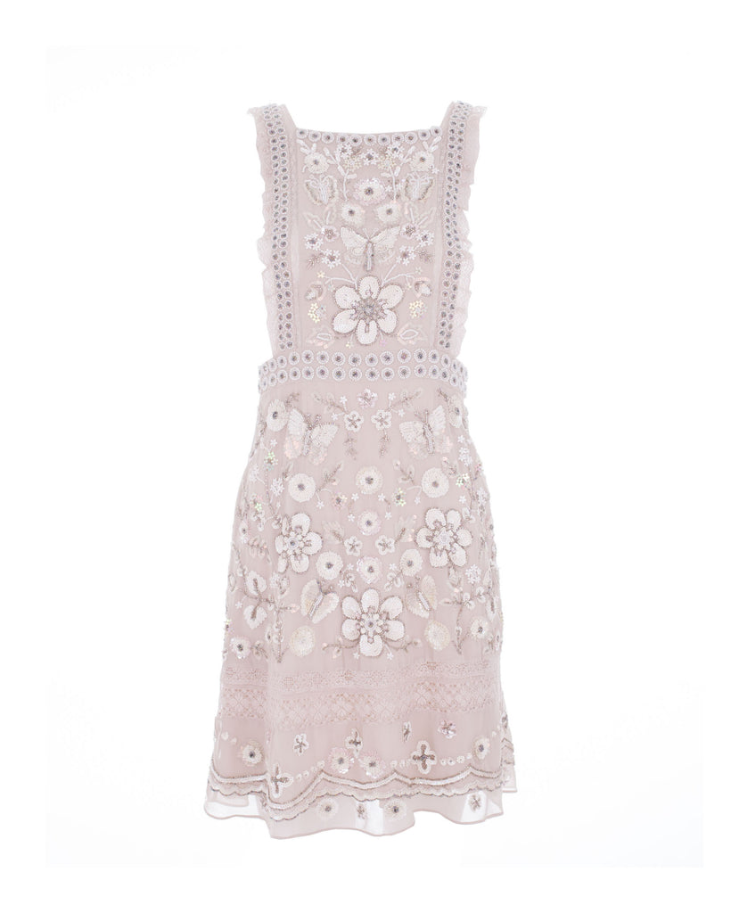 Embellished Bib Dress