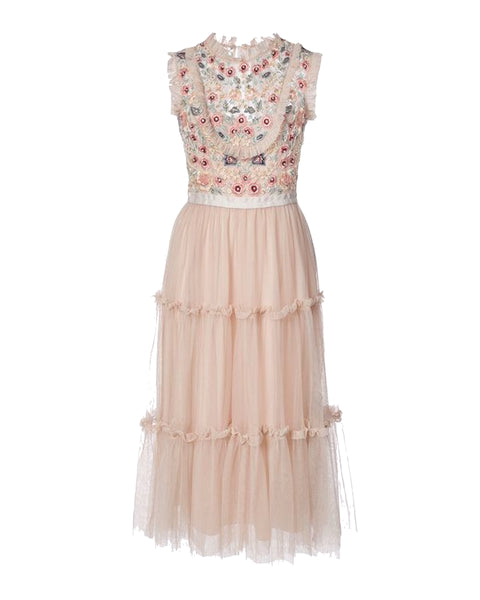 Sundaze Tiered Tulle Midi Dress