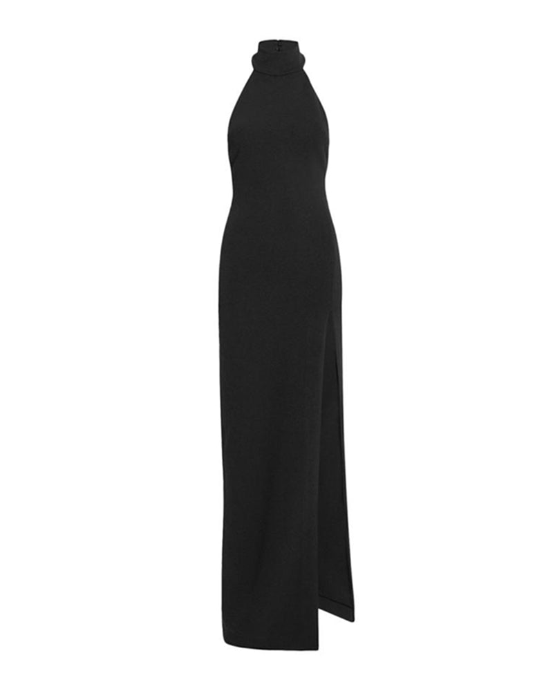 Black Turtleneck Gown