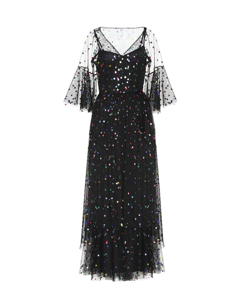 Metallic Dot Dress