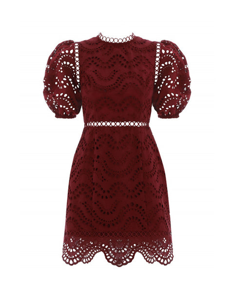 Jaya Embroidered Cotton Mini Dress