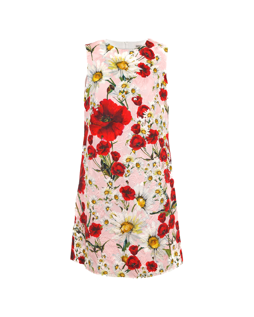 Light Pink Poppy And Daisy Dress