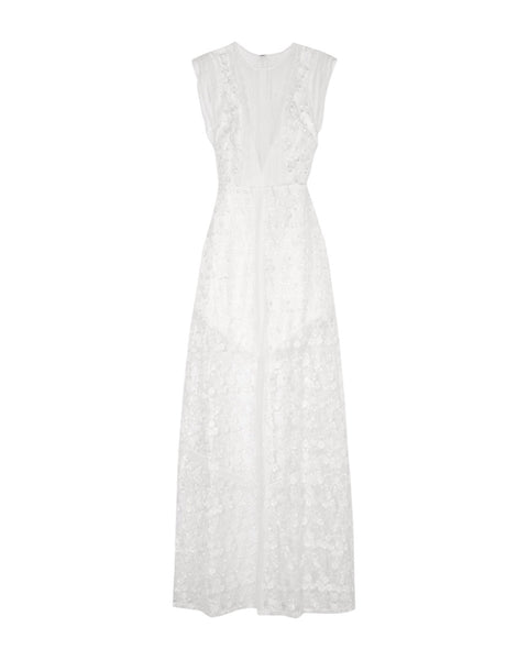 Kasia Lace Embroidered Tulle Maxi Dress