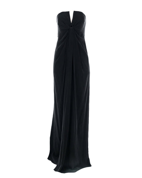Strapless Ruched Silk Gown
