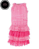 Pink and Fuchsia Tiered Party Dress (6 years)