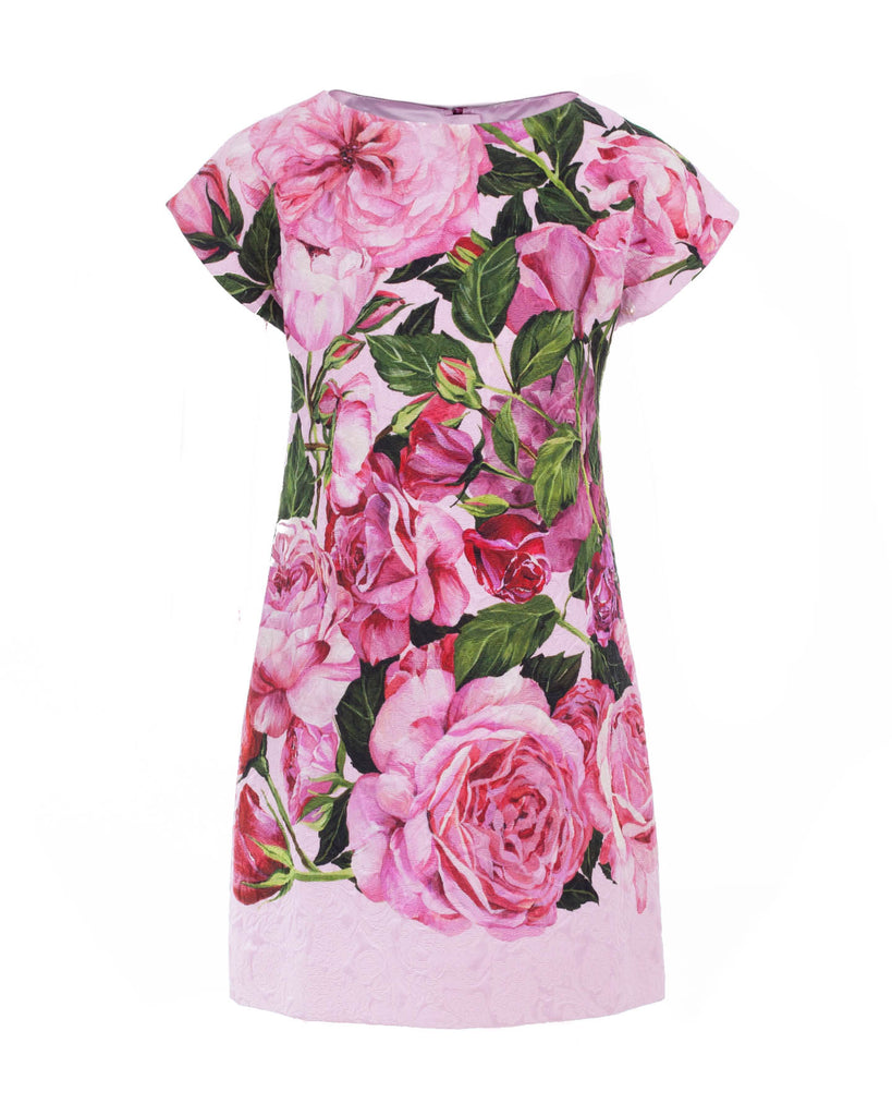 Rose Brocade Dress