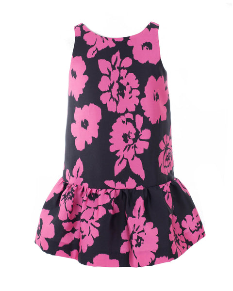 Floral Print Dropwaist Dress