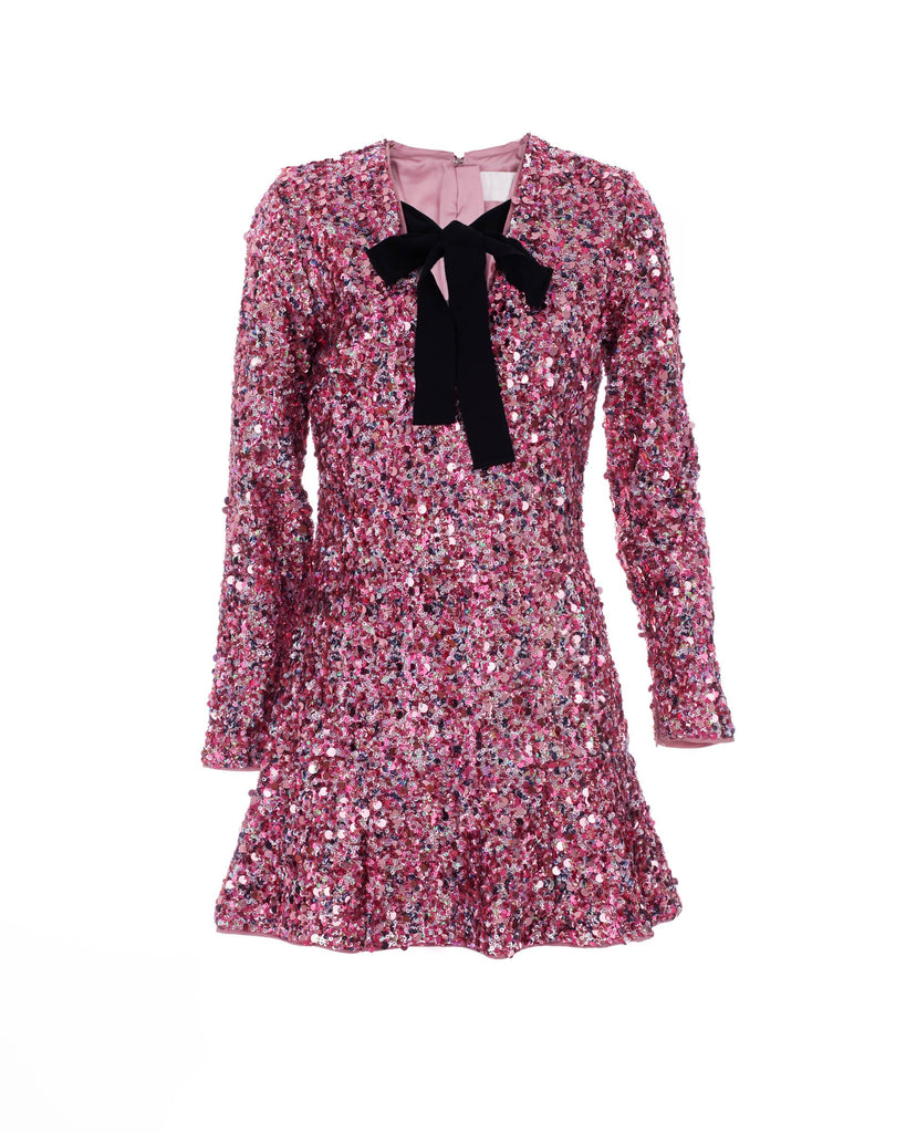 Pink Recycled Sequin Dress