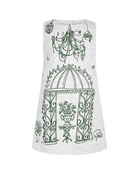 Mini-me Botanical Garden Print Dress