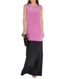 Colourblock Silk-Blend Gown