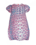 Pink and Turquoise Leopard Print Dress (3 years)