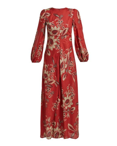 Batik Rosa Long-Sleeved Maxi Dress