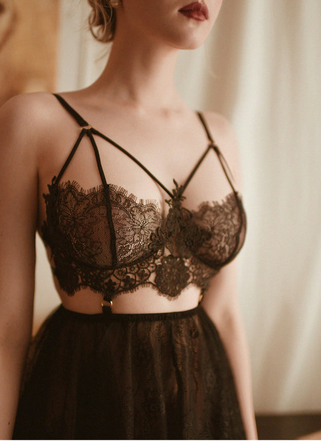 Lace Embroidery Vintage Inspired Lingerie - LINQ LA