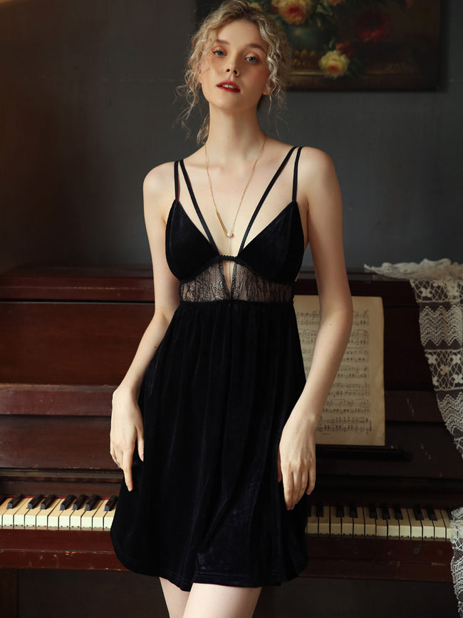 Velvet Hollow Deep V sleepwear - LINQ LA