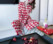 Two Piece Satin Long Sleeve Nightwear Sleepwear Pajamas set - LINQ LA