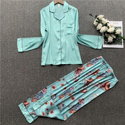 Two Piece Pajamas set Long Sleeve Nightwear Sleepwear - LINQ LA