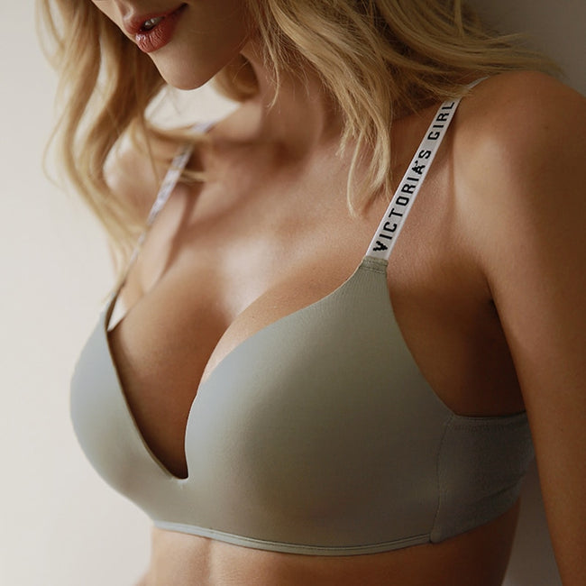 Seamless Letter Straps Comfort Adjustable Push Up Bra - LINQ LA