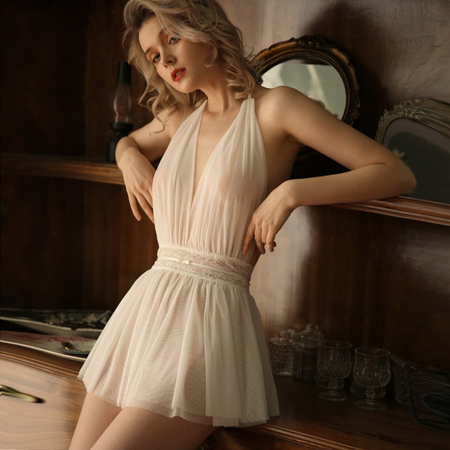 Lace Gauze Sleeping Dress Nightdress - LINQ LA