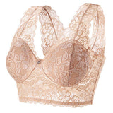 Plus Size Push up Minimizer Deep V Lace Super Bra Lingerie - LINQ LA