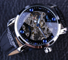 Blue Engraving Watch - THE FASHION COCKTAIL