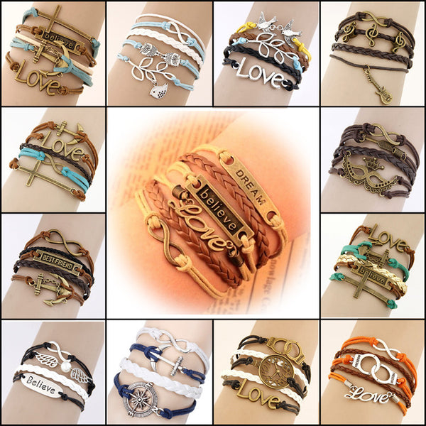 Multilayer Charm Leather Bracelet - THE FASHION COCKTAIL