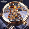 Retro Design Mechanical Skeleton Watch