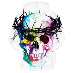 Trance Skull Hoodie - THE FASHION COCKTAIL