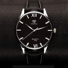 Black Large Dial Wrist Watch - THE FASHION COCKTAIL