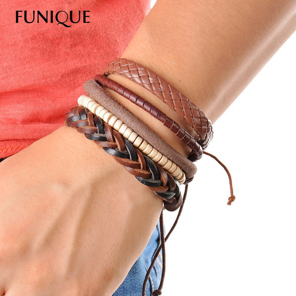 1Set (3-4PCs) Leather Bracelet - THE FASHION COCKTAIL