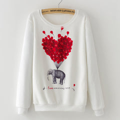 Flying Elephant Pullover - THE FASHION COCKTAIL