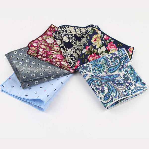 Vintage Style Cotton Pocket Squares - THE FASHION COCKTAIL