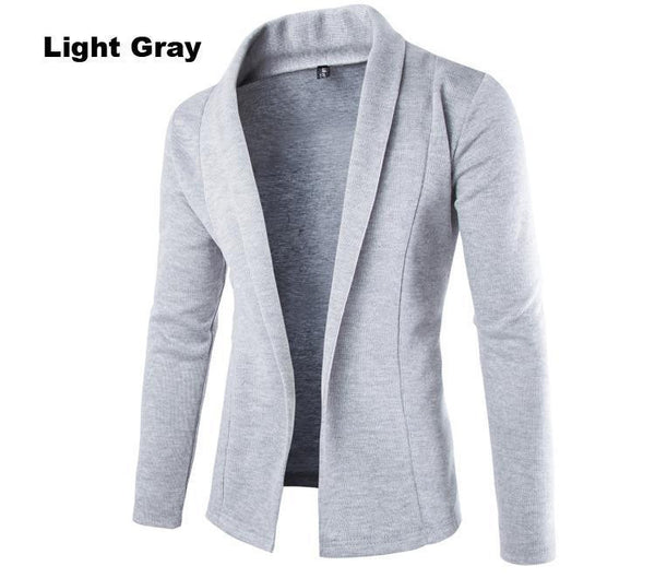 Men's Long Sleeve Casual Slim Fit blazer - THE FASHION COCKTAIL