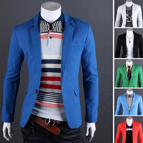 Single Button Leisure Blazers - THE FASHION COCKTAIL