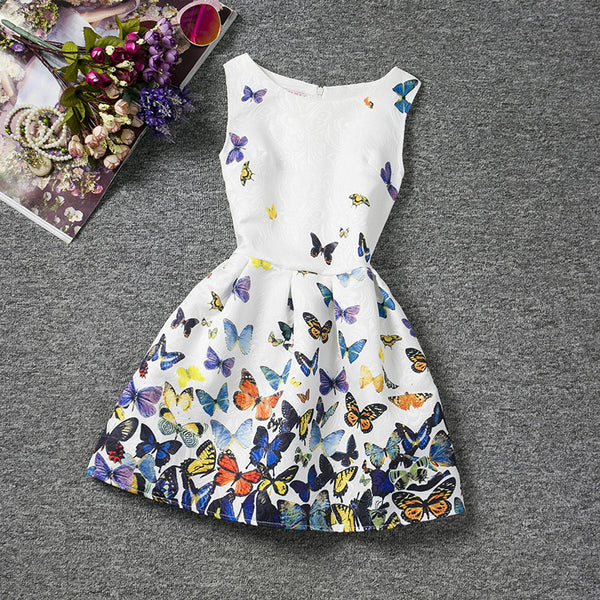 Butterflies Printed Baby Dress - THE FASHION COCKTAIL