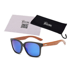 Designer Wooden Unisex Sunglasses - THE FASHION COCKTAIL