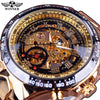 Golden Dial skeleton watch
