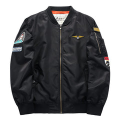 Military Style Bomber Jacket - THE FASHION COCKTAIL