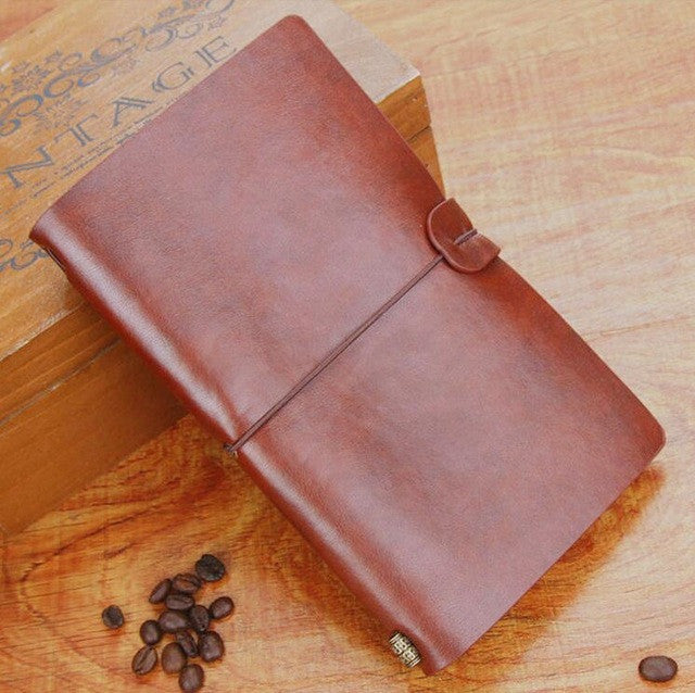 6 Colors Retro Leather Bound Handmade Diary - THE FASHION COCKTAIL