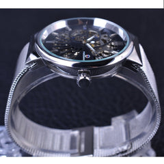 Silver Stainless Steel Mens Watch
