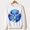 Moose Print Sweatshirt - THE FASHION COCKTAIL