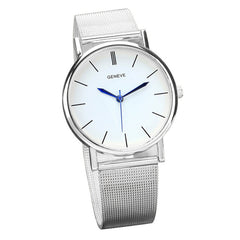 Stainless Steel Silver Quartz Wrist Watche - THE FASHION COCKTAIL