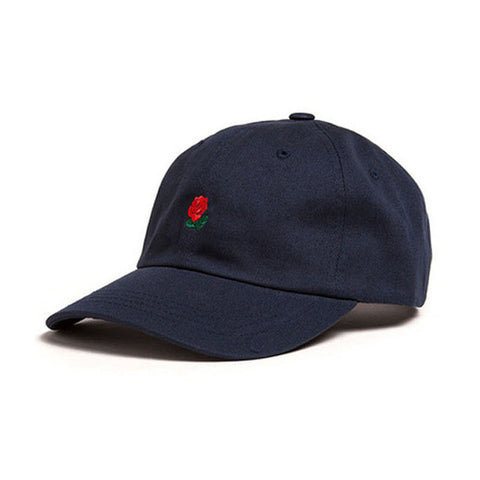 100% Cotton Rose embroidery hat black cap-THE FASHION COCKTAIL