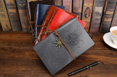 Vintage Pirate Leather Diary - THE FASHION COCKTAIL