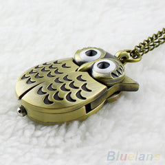Owl Pocket Pendant Long Necklace Watch - THE FASHION COCKTAIL