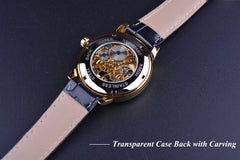 Hollow Engraving Black Gold Mechanical Watche - THE FASHION COCKTAIL