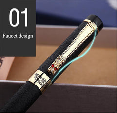 Black Fountain Pen with Golden Detailing - THE FASHION COCKTAIL